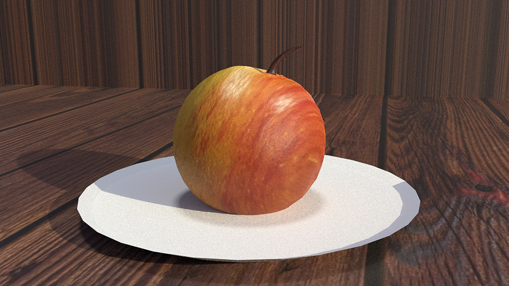 CGI Apple Created by Ali Soltanian Fard Jahromi