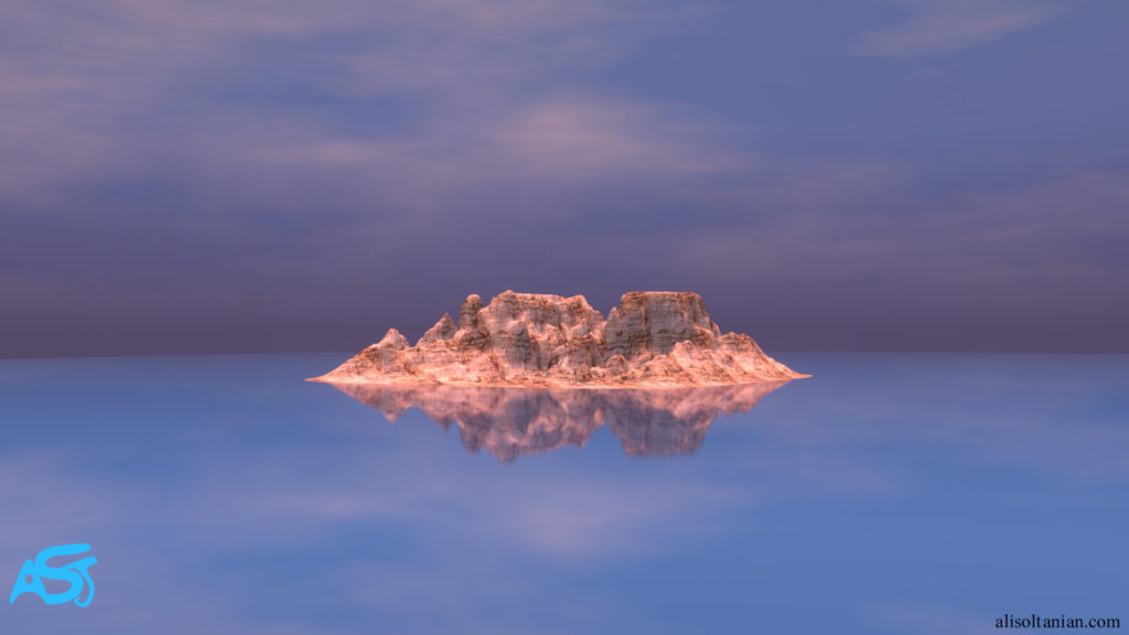 CGI Island by Ali Soltanian Fard Jahromi