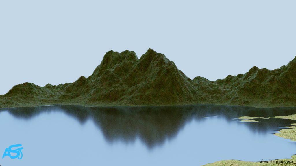 CGI Lake created by Ali Soltanian Fard Jahromi