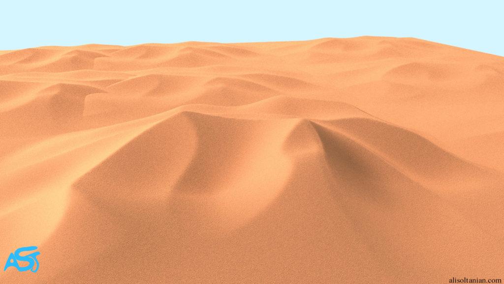 CGI Desert created by Ali Soltanian Fard Jahromi