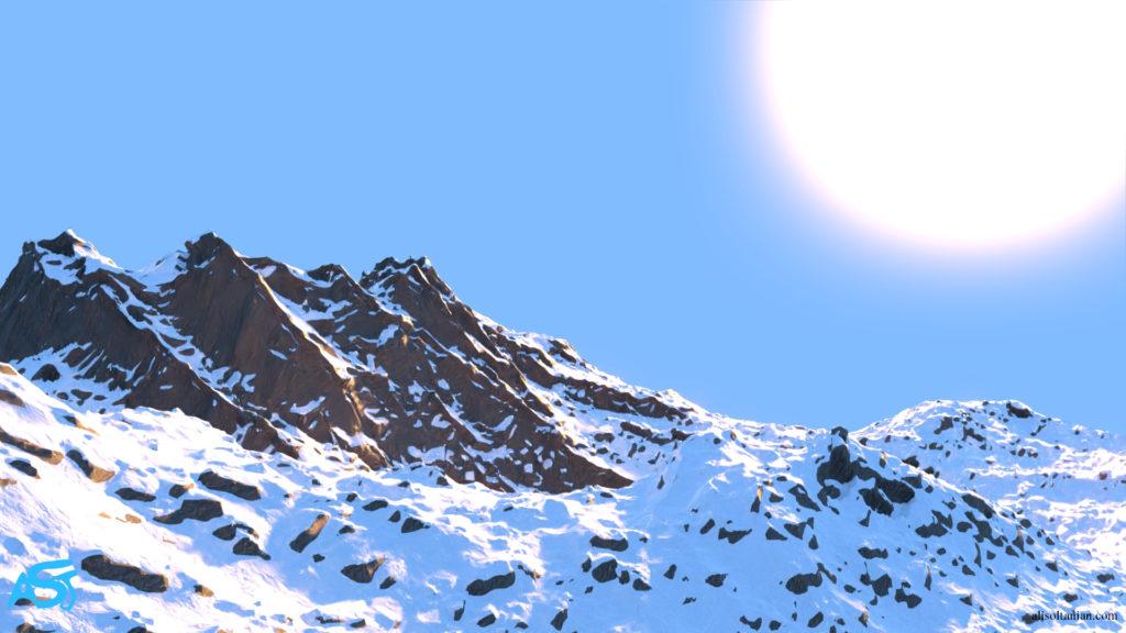 CGI Mountains by Ali Soltanian Fard Jahromi