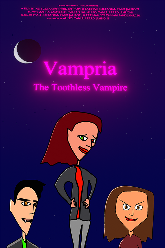 Vampria: The Toothless Vampire by Ali and Fatimah Soltanian Fard Jahromi (c) 2020