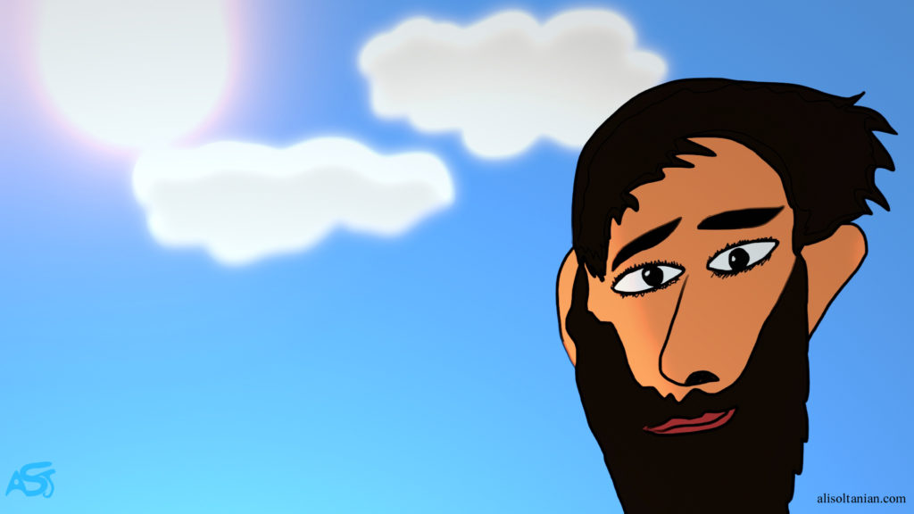 """Stranded Man"" created by Ali Soltanian Fard Jahromi (c) 2020"