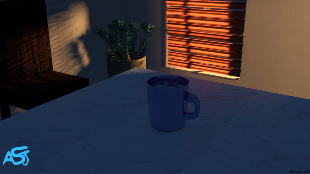 Kitchen in the Morning created by Ali Soltanian Fard Jahromi (c) 2020