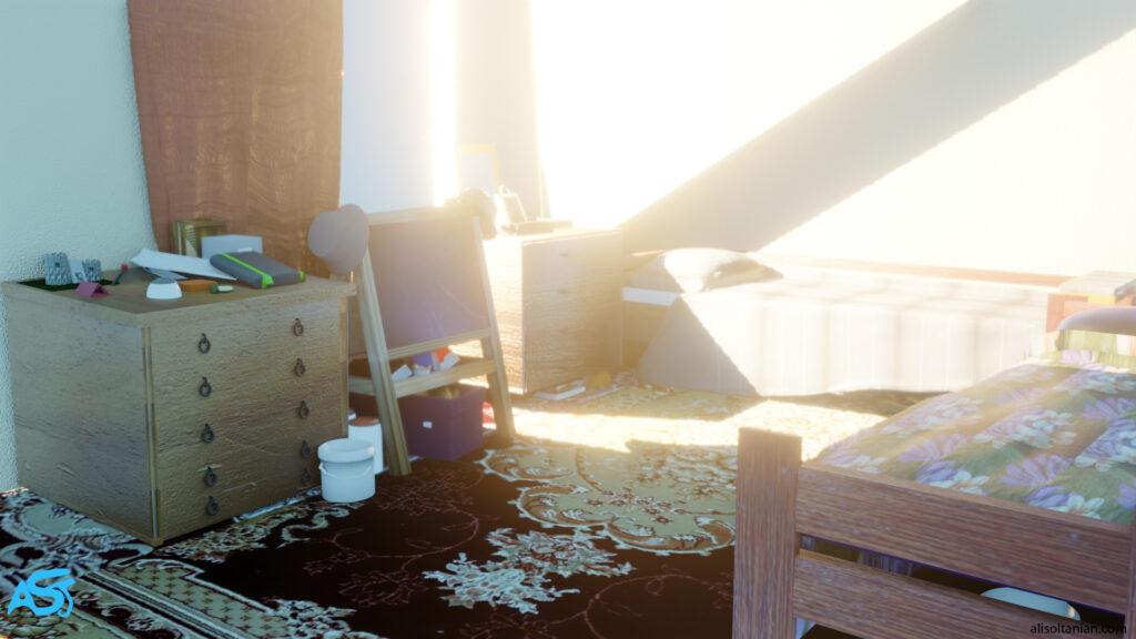 CGI Room 2 created by Ali Soltanian Fard Jahromi